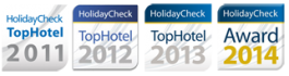 HolidayCheck TopHotel 2011-2014